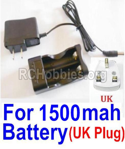 HBX Survivor MT 12811 Car Parts-Charge Box and Charger-12644(United Kingdom Standard Socket)-(Can only be used for 1500mah Battery) Parts