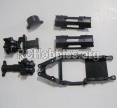 HBX 12891 Parts-Gear Box Housing & Upper Deck,Second Floor plate & Battery Cover Parts-12601R