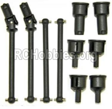 HBX 12891 Dune Thunder Car Parts-Front and Rear Drive Shaft Kit(Dog bones)-4pcs & Dogbone Cups(6pcs) Parts-12604R