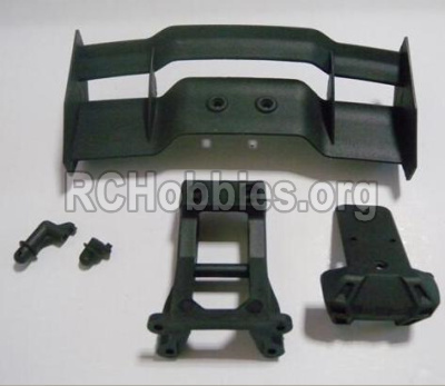 HBX 12891 Parts-Tail wing & Tail wing frame & Column for the Car canopy(For Off-road vehicles) Parts-12606
