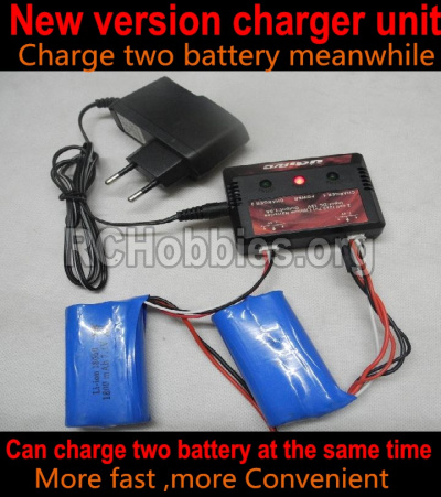 HBX 12891 Dune Thunder Car Parts-Upgrade charger and balance chager,Can charge two battery are the same time(Not include the 2x battery)-Can only be used for 2800mah Battery