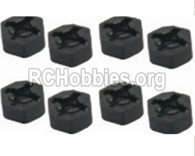 HBX 12891 Dune Thunder Car Parts-Hexagon Wheel Seat(4pcs) Parts-12010