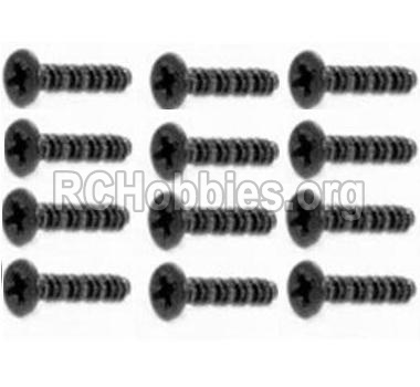 HBX 12891 Dune Thunder Car Parts-Countersunk Self Tapping Screw 2X15mm(12PCS) Parts-S011