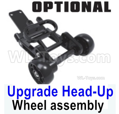 HBX 16889 RAVAGE Car Parts-Upgrade Head-Up Wheel assembly,Wheelie Bar Assembly-M16108