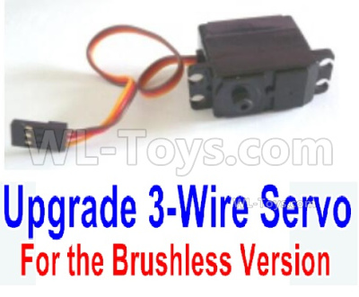 HBX 16889 RAVAGE Car Parts-Servo (3-wire plug, for brushless Version)-M16109