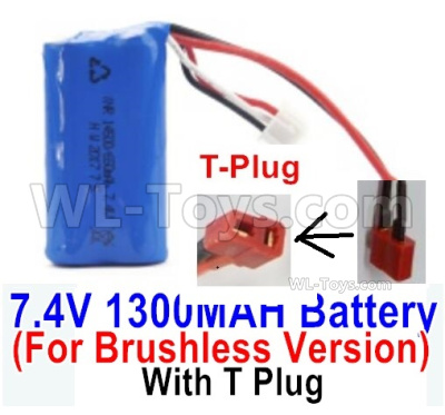 HBX 16889 RAVAGE Car Parts-Battery Parts-7.4V 1300MAH Battery-T Plug-Only for the Brushless Version-M16120T