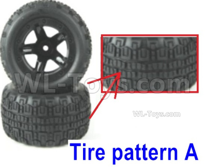 HBX 16889 RAVAGE Car Parts-Wheel Complete Parts,Total 2 set-Tire pattern A-M16038