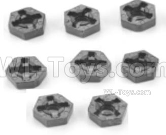 HBX 16889 RAVAGE Car Parts-Wheel Hex Seat Parts-8pcs-12010