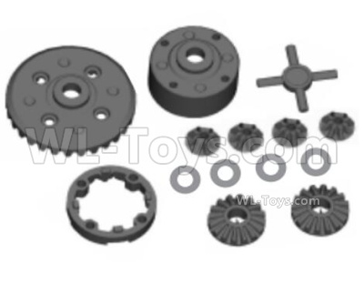 HBX 16889 RAVAGE Car Parts-Diff. Assembly,Differential Assembly-M16027