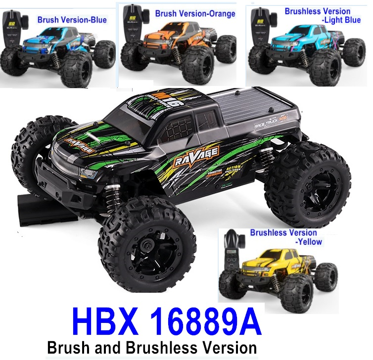 HBX 16889 RC Truck,HBX 16889 RAVAGE Car Parts-RAVAGE RC Monster Truck,1/16 Brush and Brushless Version