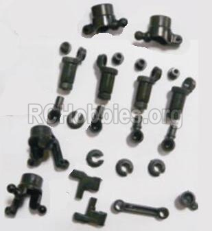 HBX 2118 Car Parts-anti-Shocks Assembly & Steering Cups & Rear Shaft sleeve Parts-25002R