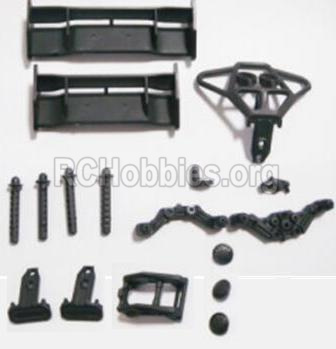 HBX 2118 Car Parts-Tail Wings & Bumpers & Car Body Support column Parts-25003
