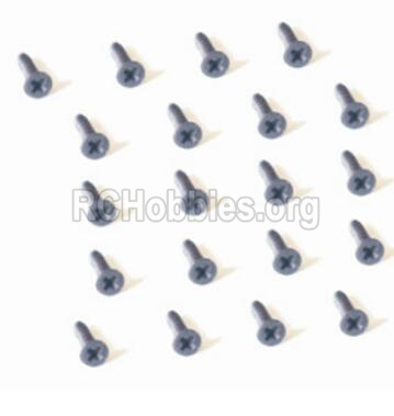 HBX Defensor 2118 Screw Parts-Countersunk Head Self Tapping Screw-2X6mm(20PCS) Parts-25056