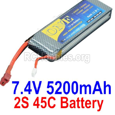 HBX T6 Battery Parts-ONE 2s 7.4V 45C 5200MAH Battery Parts TS008