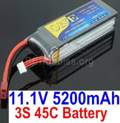 HBX T6 Lipo Battery Parts-ONE 3s 11.1V 45C 5200MAH Battery Parts TS008