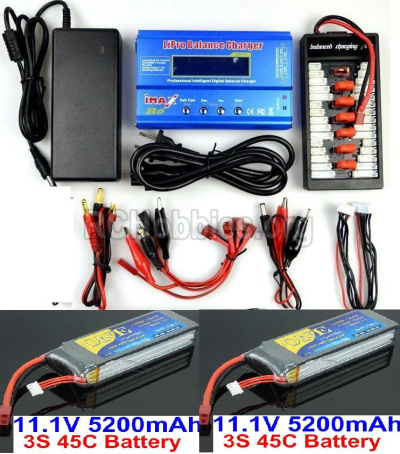 HBX T6 1/6 RC Desert Buggy Parts-Battery Charger Parts-2pcs 7.4V 5200 mah battery & Upgrade Charger unit Parts TS008