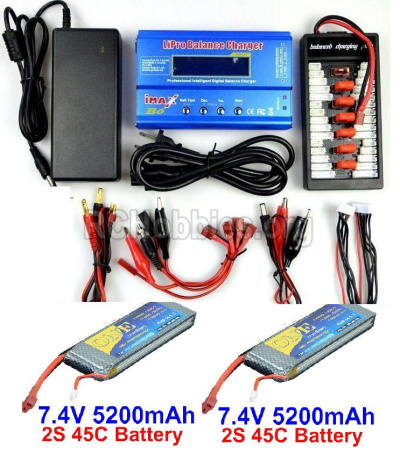 HBX T6 Buggy Parts-Battery Charger Parts Parts-2pcs 11.1V 5200mah battery & Upgrade Charger unit Parts TS008