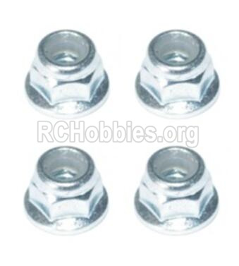 HBX T6 Buggy Parts-Flange Head Lock Nut M5(4pcs) Parts H004