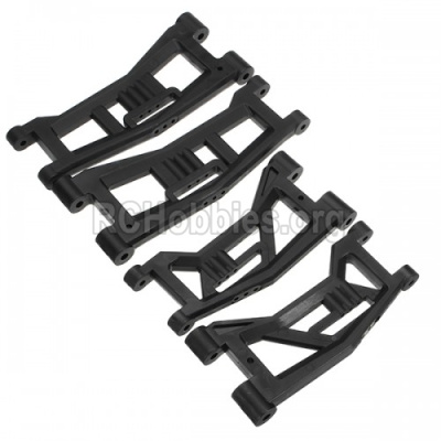 HBX T6 Buggy Parts-Front and Rear Suspension Lower Arms,Swing arm(Total 4pcs) Parts TS036
