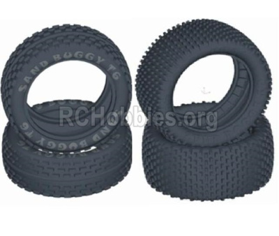 HBX T6 Buggy Parts-Front and Rear Tire(Sponge Inserted),tire lether-(4pcs) Parts TS056+TS057