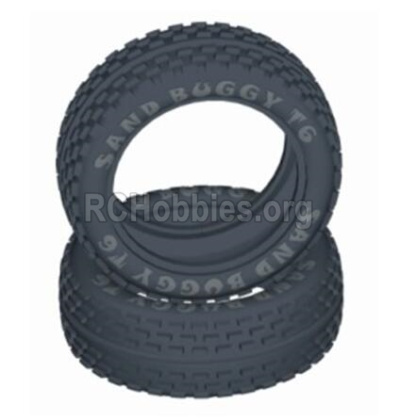 HBX T6 Buggy Parts-Front Tire(Sponge Inserted),Front tire lether(2pcs) Parts TS056-02