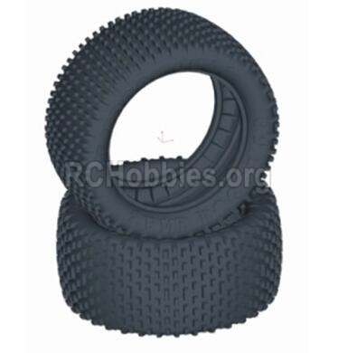 HBX T6 Buggy Parts-Rear Tires(Sponge Inserted),Rear tire lether(2pcs) Parts TS057