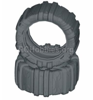 HBX T6 Buggy Parts-Front or Rear Concept Sand Tire(Sponge Inserted)-2pcs Parts TS060