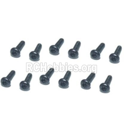 HBX T6 Buggy Parts-Hex. Recessed Pan Head Self Tapping Screws(TMH04x12mm)-12pcs Parts TS212