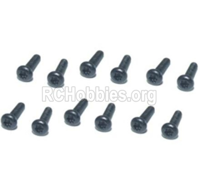 HBX T6 Buggy Parts-Hex. Recessed Pan Head Self Tapping Screws(TMH04x18mm)-12pcs Parts TS214