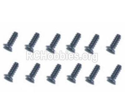 HBX T6 Buggy Parts-Hex. Recessed Countsunk Self Tapping Screws(FBH04x25mm)-12pcs Parts TS221