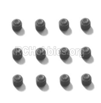 HBX T6 Buggy Parts-Hex. Recessed Set Screws(M4x4mm)-12pcs Parts TS226