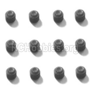HBX T6 Buggy Parts-Hex. Recessed Set Screws(M4x8mm)-12pcs Parts TS227